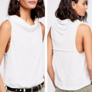 Free People Summer Thing Tank Cowl Neck White M